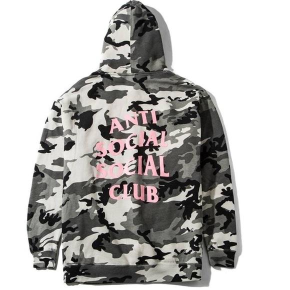 """5d66cab49 Anti Social Social Club Tops - 100% authentic ASSC """"Not Gildan"""" snow camo"""